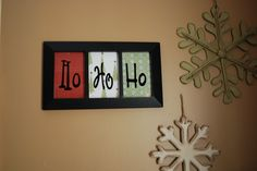 Frame + scrapbook paper + cut out letters with your own font = cute Christmas wall decor!
