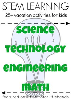 STEM activities for preschool, kindergarten, and grade school age kids. Build, experiment, solve, test, and design with hands on learning activities and STEM projects for kids. Easy STEM activities are fun and simple to do at home or school.