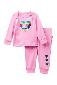 349fefc9de Juicy Couture - Rainbow Foil Heart Top   Ruffle Bottom Pants Set (Baby  Girls)