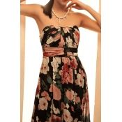 $15.99 Casual Off The Shoulder Sleeveless Chiffon Beach Ankle Length Dresses.from LovelyWholeSale.com