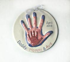 Family Handprint Keepsake Gift  Personalized Keepsake Gift