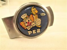 Pez Candy Advertising Money Clip Clown Logo by VintageBADTIQUE