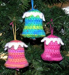 Crochet Bell Ornament Pattern