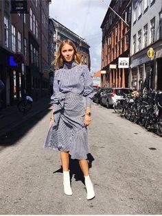Pernille Teisbaek killing it in check ruffles