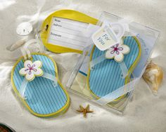Flip Flop Beach Luggage Tag in Gift Box Wedding Favours