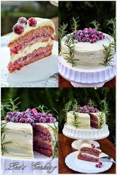 "Lea's Cooking: ""White Chocolate Cranberry Cake Recipe"""