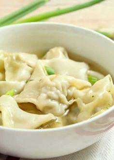 Wonton Filling Recipes, Easy Soup Recipes, Healthy Chicken Recipes, Cooking Recipes, Healthy Soup, Appetizer Recipes, Easy Chinese Recipes, Asian Recipes, Oriental Recipes