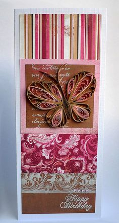 Card with quilled butterfly