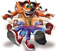 La célèbre attaque tornade de Crash Bandicoot !