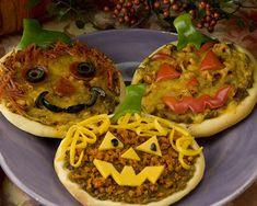 Taco Nacho Pizza Jack-O-Lanterns + many more great Halloween recipes!