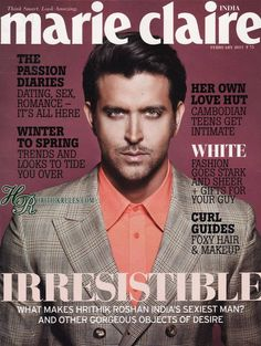 You know, i AM actually very interested in what passes for dating advice and people getting their own love huts??? I think i should subscribe to Marie Claire India.... but yeah, they have one up on the US version w Hrithik on the cover.