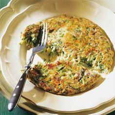 Das Rösti mit geraspelten Zucchini, Käse, Frühlingszwiebeln, Eiern und Schnittlauch fand ich als herzhaften Snack …