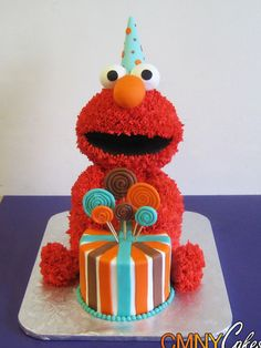 Elmo+Birthday+Cake 400×533 pixels