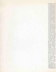 Fluxus Stationery, 1966, George Maciunas.