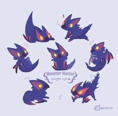 Cute Nargacuga - Imgur Mythical Creatures Art, Cute Creatures, Fantasy Creatures, Creature Drawings, Animal Drawings, Cute Drawings, Monster Hunter Memes, Monster Hunter World, Creature Concept Art