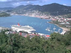 St Thomas This is crazy! I took a picture exactly like this with the same Carnival Ship in the same place :-) Not that I'm silly in thinking I'm the only one who has ever taken a cruise to St. Thomas, but its just weird to see someone else's picture that I would swear I took! :)