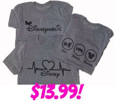 Disney Love T-shirts only $13.99!