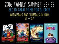 Wehrenberg Family Summer Series 2016 – $1 Movies