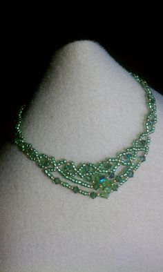 PERIDOT CRYSTAL ANKLET by katievegas1 on Etsy, $35.00