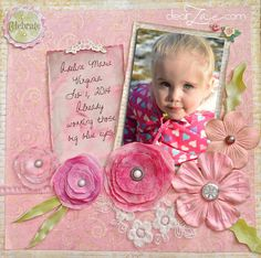 Dear Zae: Layout: Celebrate Pink (And Scrapping on a Budget)