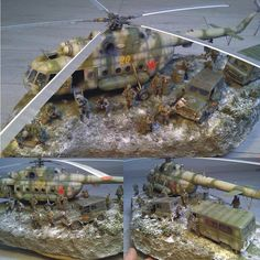 Diorama hélicoptère MIL MI 8 PART 1 by: Looping From: lesapeurzeforum.forumactif  #scalemodel #plastimodelismo #usinadoskits #udk #plasticmodel #plastimodelo #plastickits #diorama #hobby #helicopter #helicoptero