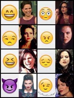 Awesome Lana/Regina/Evil Queen Regina with Emojis