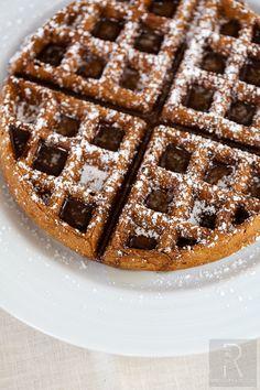 #Vegan Rooibos Masala Chai Waffles   vegan miam