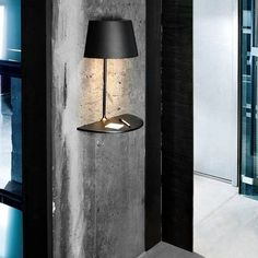 This lamp looks unique and interesting, designed by Hareide Design for Northern Lighting. This lamp has usual table lamp design that cut half and attached to Lighting Concepts, Lighting Design, Lighting Ideas, Lighting Solutions, Interior Lighting, Modern Lighting, Modern Lamps, Industrial Lighting, Sconce Lighting