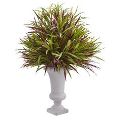 Nearly Natural Sweet Grass Artificial Plant in Gold Urn