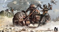 Rebel Bikes is a series of amazing post apocalyptic illustrations by artist Ignacio Bazán Lazcano, w Steam Punk, Apocalypse, Image Moto, Cyberpunk, Science Fiction, Sci Fi Kunst, Creative Assembly, Arte Steampunk, Post Apocalyptic Art
