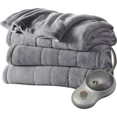 Sunbeam Heated Plush Electric Blanket