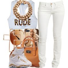 polyvore school outfits with jordans - Google Search