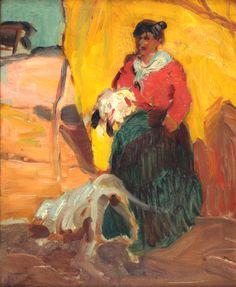 - Fernando Fader - China  - 40 x 33 cm.  - Óleo sobre cartón  - 1913