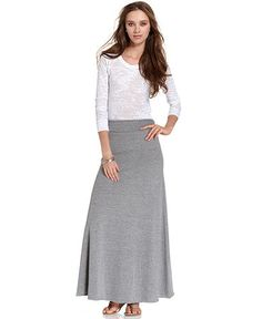 Long modest ankle length white maxi skirt from Macy's. | Beauty Up ...