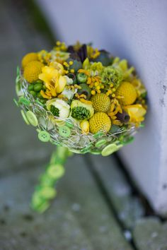 Love this all yellow and green armature bouquet I made