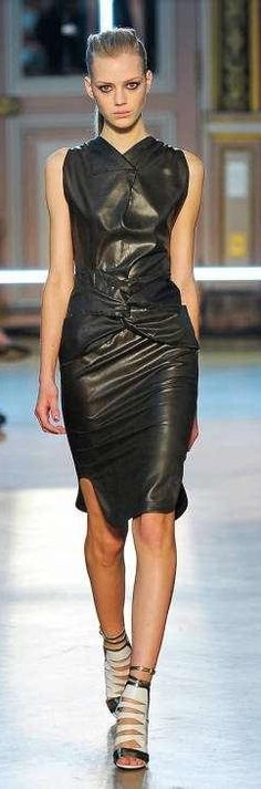 The perfect way to wear leather in the summer! #summerleather #leatherdresses