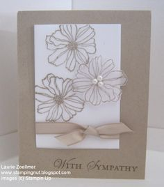 Laurie's Stampin' Spot: Fifth Avenue Floral Vellum Sympathy Card