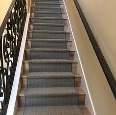 Silver Creek Brigitta wool / nylon carpet fabricated into a stair runner for a client in Newport Beach CA - Purchase at Hemphill's Rugs & Carpets Costa Mesa www.RugsAndCarpets.com