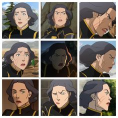 The faces of Lin Lin Beifong, Avatar Picture, The Last Avatar, I Need Jesus, Avatar World, Avatar The Last Airbender Art, Team Avatar, Korrasami, Anatomy Drawing
