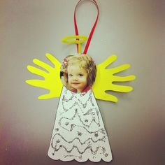 PreK-2 parents are getting a little angel as their Christmas gift this year. :-) #christmascrafts #preschoolcrafts #littleangels