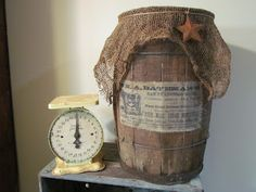 Vintage Wooden Stave Nail Keg Barrel  To purchase click on my blog link