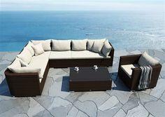 venezia sedacia suprava z umeleho ratanu modern 11 Outdoor Sectional, Sectional Sofa, Couch, Garden Furniture, Outdoor Furniture, Outdoor Decor, 3, Design, Home Decor