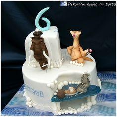 Ice Age cake Ice Age Birthday Party, Boy Birthday, Birthday Cakes, Birthday Ideas, Unique Cakes, Creative Cakes, Fondant Cakes, Cupcake Cakes, Ice Age Cake