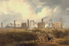 A view of Murton colliery near Seaham, United Kingdom, 1843