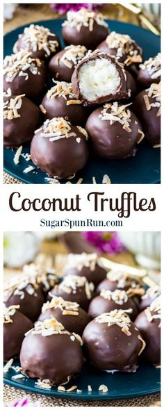 Coconut Truffle Candies, these would make a great Christmas gift! via @sugarspunrun