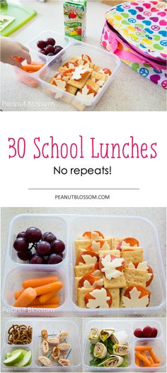 Days of school lunches, no repeats! Easy tips and tricks for packing a lunch for an entire 30 days. Fantastic Days of school lunches, no repeats! Easy tips and tricks for packing a lunch for an entire 30 days. Lunch Box Recipes, Lunch Snacks, Baby Food Recipes, Healthy Snacks, Lunch Ideas, Kid Lunches, Vegan School Lunches, Vegetarian Recipes For Kids, Easy Lunches For Kids
