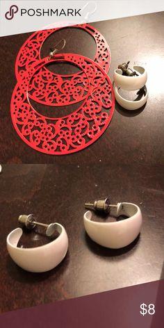 Metal retro earring set Metal retro earring set. Gently worn Jewelry Earrings