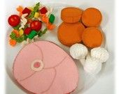 Wool Felt Play Food - Turkey for the Holidays. $49.95, via Etsy.