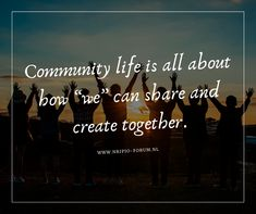"""life is all about how """"we"""" can and create Community Quotes, Thoughts, Create, Movie Posters, Life, Film Poster, Popcorn Posters, Film Posters, Poster"""