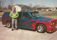 Early crazy mini truck I built. S10 Truck, Chevy S10, Lowered Trucks, Utility Trailer, Mini Trucks, Custom Cars, Automobile, Van, Vehicles